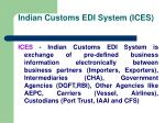 indian customs edi system ices