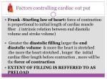 factors controlling cardiac out put6