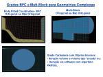 grades bfc e mult block para geometrias complexas