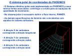 o sistema polar de coordenadas do phoenics