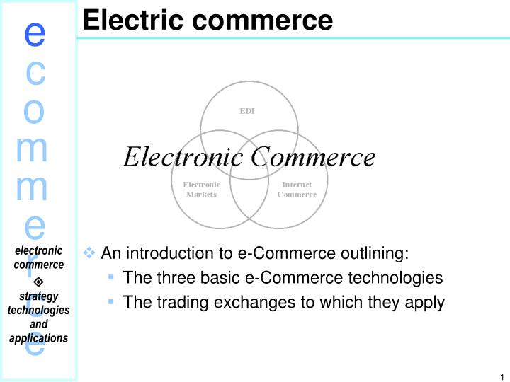 electric commerce n.