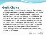 god s choice