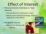 effect of interest