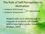 the role of self perceptions in motivation