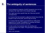 the ambiguity of sentences