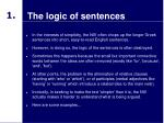 the logic of sentences