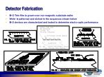 detector fabrication