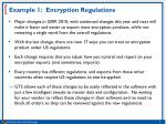 example 1 encryption regulations