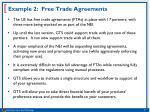 example 2 free trade agreements