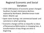regional economic and social variation