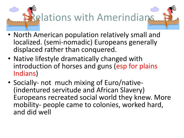 Relations with Amerindians