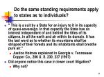 do the same standing requirements apply to states as to individuals