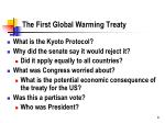 the first global warming treaty