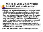 what did the global climate protection act of 1987 require the epa to do