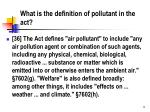 what is the definition of pollutant in the act