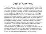 oath of attorneys