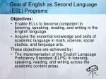 goal of english as second language esl programs