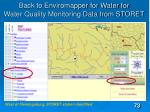 back to enviromapper for water for water quality monitoring data from storet