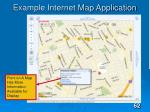 example internet map application