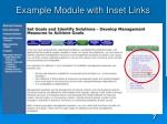 example module with inset links