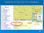 hyperlink to data pull from database