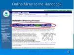 online mirror to the handbook