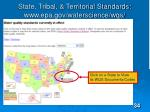 state tribal territorial standards www epa gov waterscience wqs