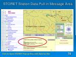 storet station data pull in message area