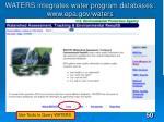 waters integrates water program databases www epa gov waters