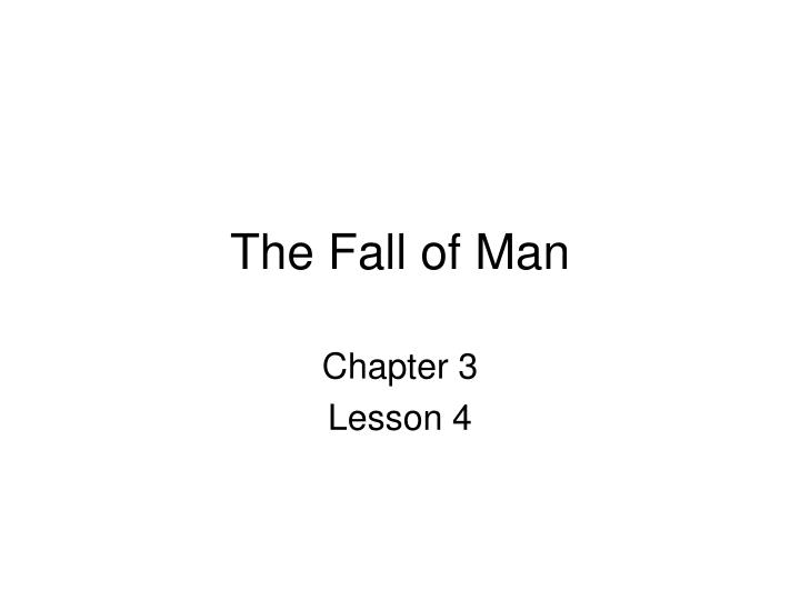 the fall of man n.