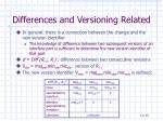 differences and versioning related