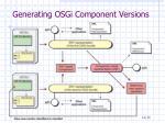 generating osgi component versions