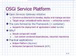 osgi service platform