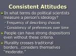 consistent attitudes