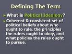 defining the term