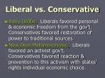 liberal vs conservative