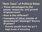 new class of political elites