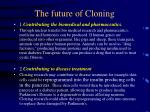 the future of cloning