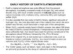 early history of earth s atmosphere