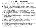 the earth s atmosphere1