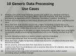 10 generic data processing use cases
