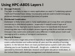 using hpc abds layers i