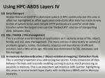 using hpc abds layers iv
