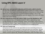 using hpc abds layers v