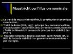 maastricht ou l illusion nominale