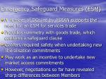 emergency safeguard measures esm1
