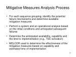 mitigative measures analysis process1