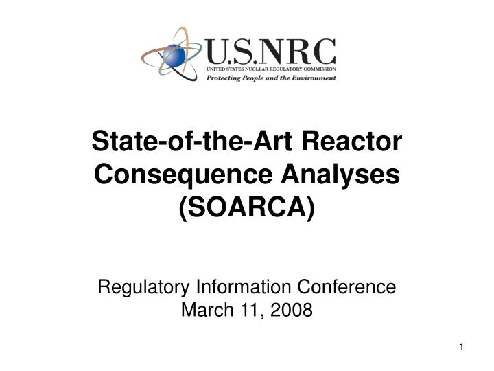 state of the art reactor consequence analyses soarca n.
