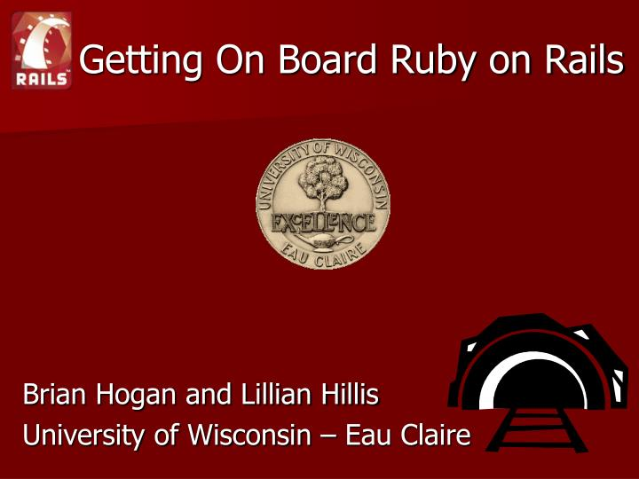 getting on board ruby on rails n.