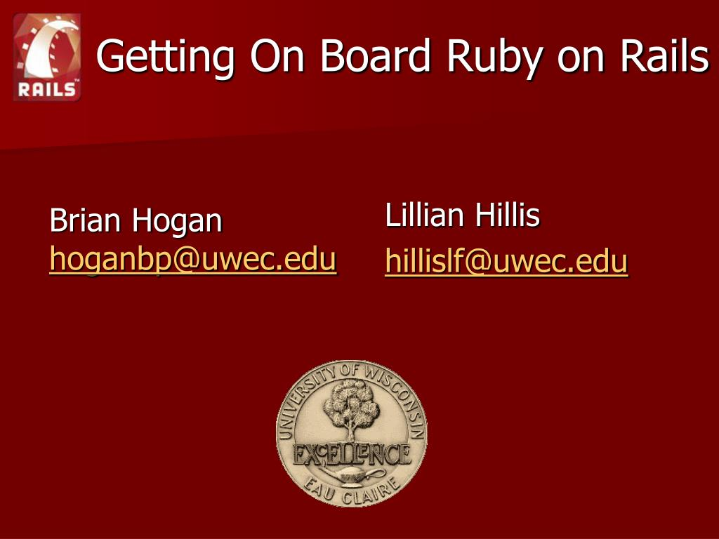 PPT - Getting On Board Ruby on Rails PowerPoint Presentation